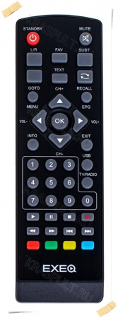 пульт exeq tvr-01l, tvr-02l, tvr-03 Exeq для приставок dvb-t2
